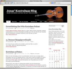 Kontrabass-Blog Screenshot